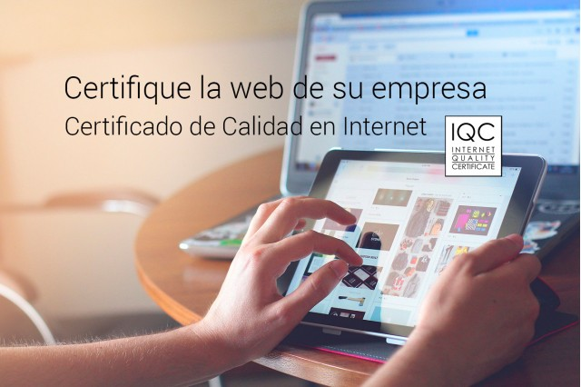 Certify your company with the Quality Certificate on the Internet